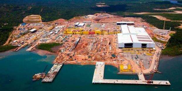 Estaleiro construído na Bahia gera 4,5 mil empregos diretos somente no estado