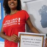 Representante do Senge BA Estudante, Maria Paula, aluna da Escola Politécnica da Ufba