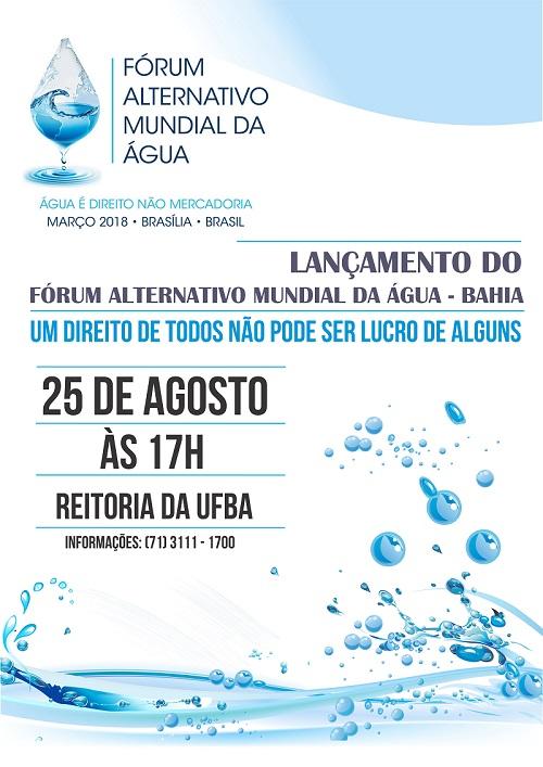 Lançamento Comitê Baiano do Fórum Alternativo Mundial da Água
