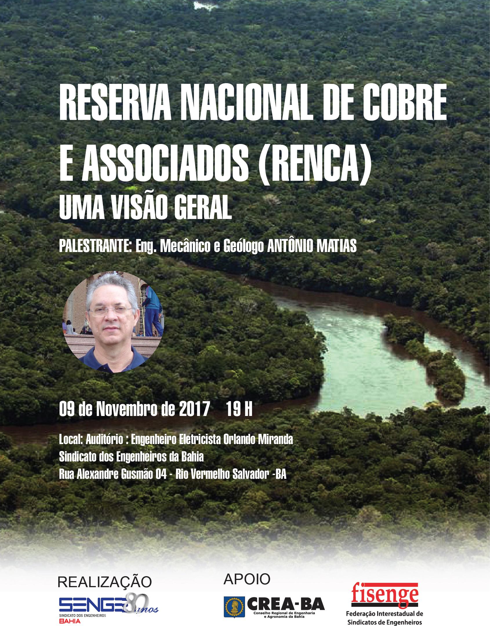 Senge-BA promove palestra sobre a RENCA