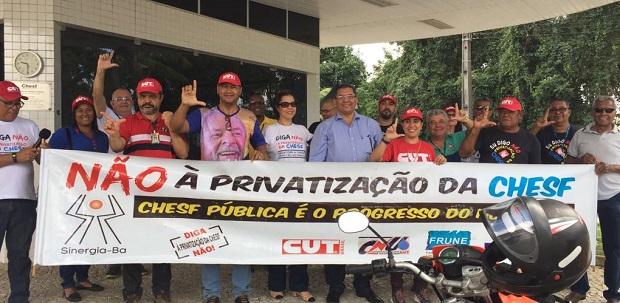 Engenheiros/as fortalecem o #DiaDoBasta e protestam contra privatização da Chesf/Eletrobrás