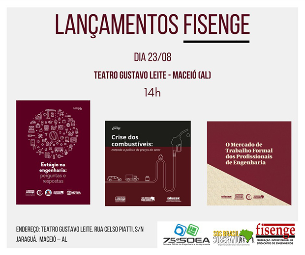 Fisenge lançará cartilhas e livro na 75ª SOEA