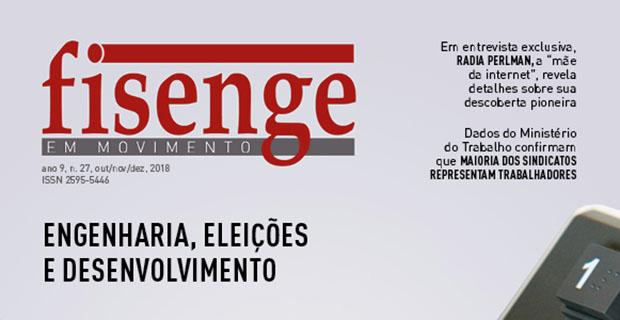 """Fisenge lança revista sobre """"Engenharia, eleições e desenvolvimento"""""""