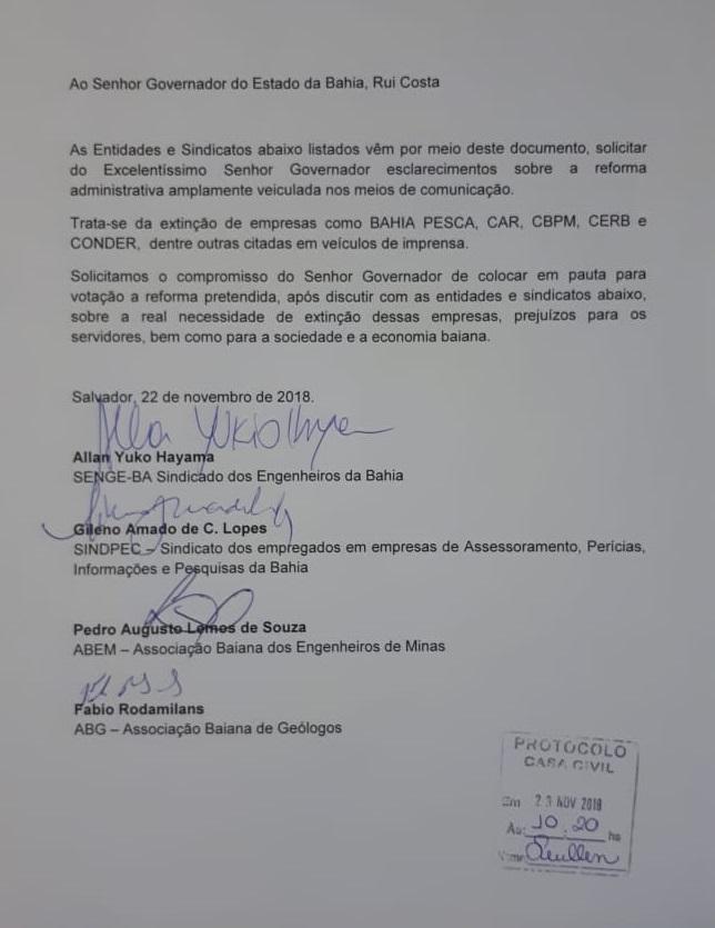Governador da Bahia especula reforma administrativa com fechamento de empresas estaduais