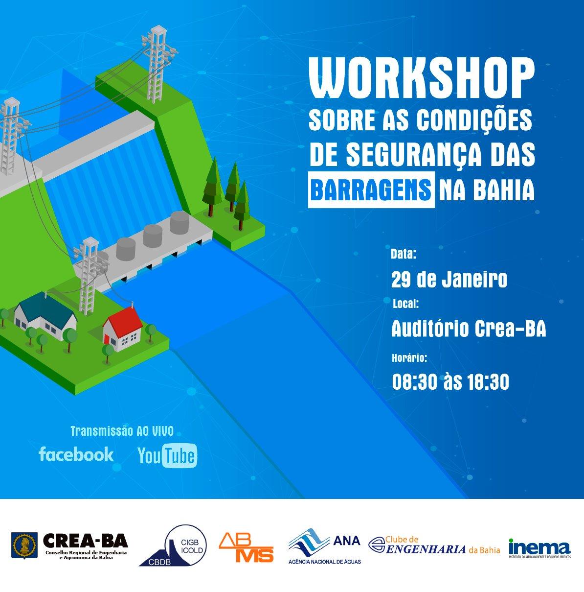 Segurança de barragens na Bahia é tema de evento gratuito