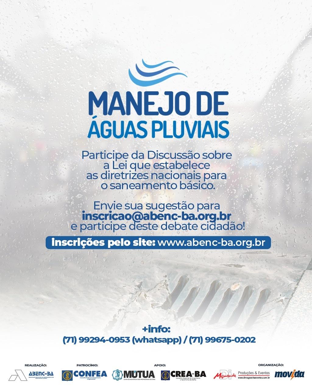 Abenc promove Debate sobre Manejo de Águas Pluviais Sustentáveis