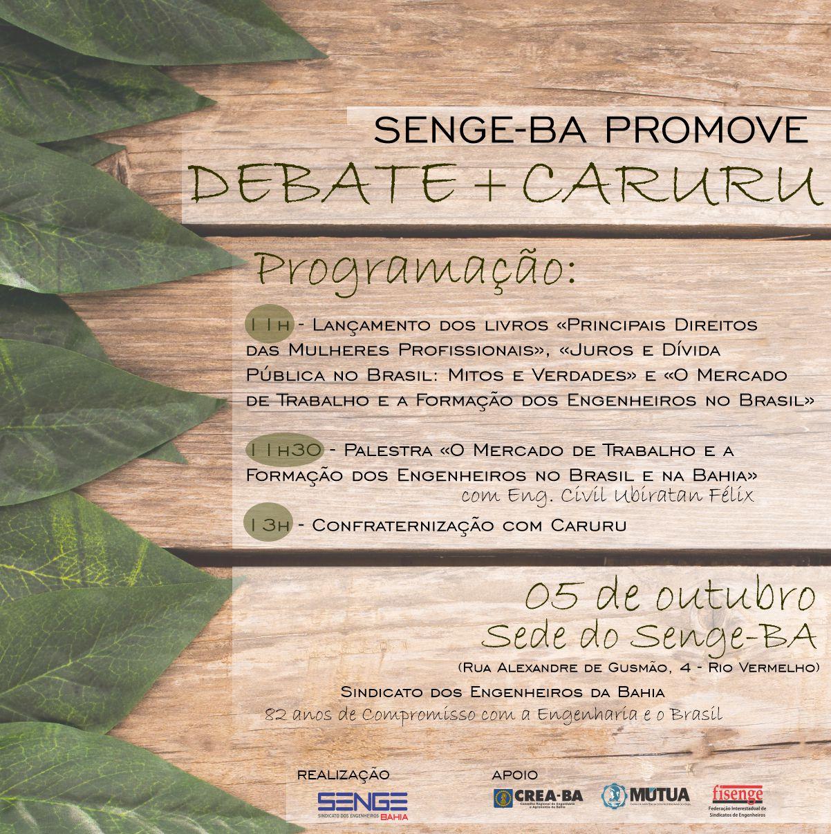 Senge-BA realiza debate+caruru no dia 05 de outubro