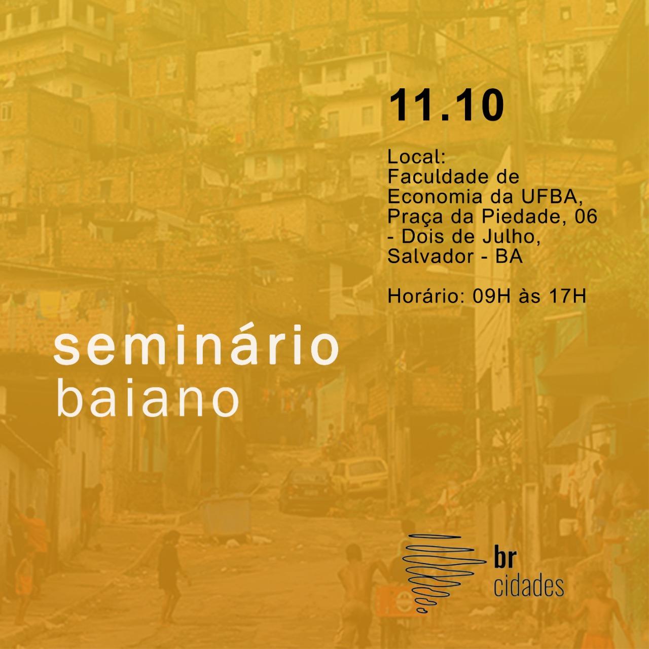 I Seminário Baiano Br Cidades acontece amanhã (11)