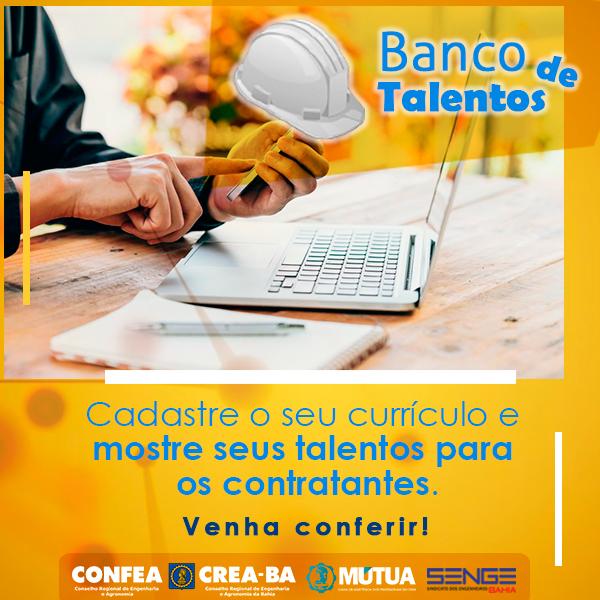Senge e Crea-BA lançam Banco de Talentos para aproximar profissionais e empresas