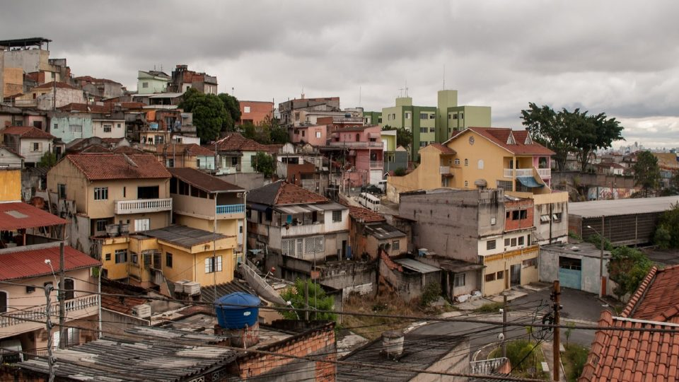 Residences in the poor suburb of Sao Paulo Brazil